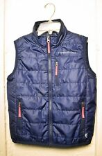 Vineyard Vines Navy Blue Puffer Vest - Full Zip Front - Kids Youth Size S 8-10