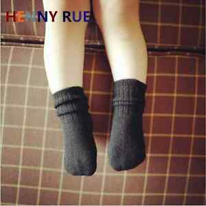 5/10 Pairs Baby Mongolia 100% Wool Cashmere Solid Boy Girls Kids Socks Age 0-6Y