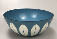 Catherine Holm Lotus Serving Bowl Blue Enamel Mid-Century Modern Scandinavian AA