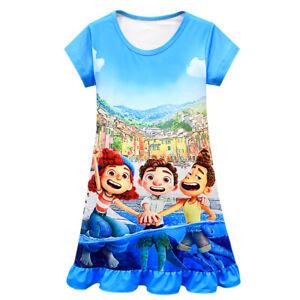 Kids Girls Pajamas Friends Sunny Day Luca Sleepwear Summer Ruffles Nightdress