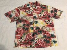 Hawaiian KY'S Made In Hawaii Vacation Beech Button Down Shirt Men's Large