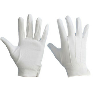 White Formal Short Gloves Tuxedo Guard Parade Santa Fancy Dress Mens Women