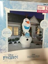 Gemmy Disney Frozen Inflatable 11 Ft. Olaf With Snowflake