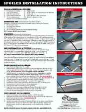 2003 - 2007 Cadillac CTS Painted Rear Spoiler Wing 06
