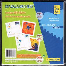 FRANCE FRANCIA 2004 Lot de Enveloppes illustrées Meilleurs Voeux NEUF
