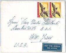 47744 - SAN MARINO  - Storia Postale: BUSTA  a gli USA - UCCELLI Birds 1951