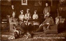 Alte AK Postkarte König Friedrich August v. Sachsen m. Kinder 1914? Photokarte