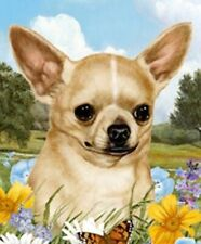 Outdoor Small Flag Chihuahua Dog Summer Flowers Garden Flag