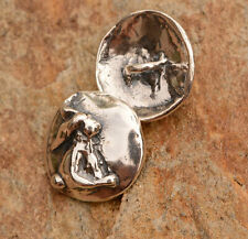 Sweet Bunny Sterling Silver Button Clasp, Small Rabbit Button