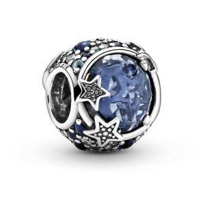 Original Pandora Celestial blau funkelnde Sterne Charme 799209c01 s925 ALE