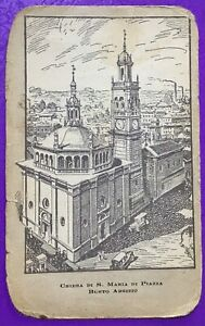 SANTINO HOLY CARD, CHIESA DI SANTA MARIA DI PIAZZA BUSTO ARSIZIO -RIF. 9997