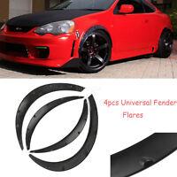 4Pcs High Quality Flexible Black Polyurethane Automobile Exterior Fender Flares