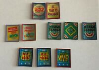 SCORE BASEBALL MAGIC MOTION TRIVIA CARDS FROM 1988-1991 LOT OF 10 DIFFERENT