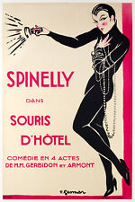 Original Vintage Poster - Charles Gesmar - Spinelly - Music Hall - 1922