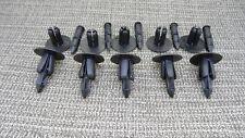 BLACK PIN RIVET PUSH IN FASTENER BODY PANEL TRIM CLIP PACK OF 10 Mazda
