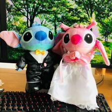 2pcs cute lilo&stitch couple wedding stitch stuffed plush soft doll lover gift