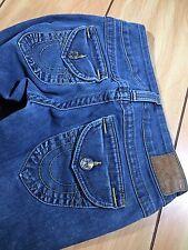True Religion Woman's Joey Fit Jeans Denim RN 112790 Blue Wash Sz 24 A4