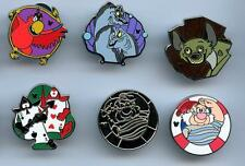 VILLAINOUS SIDEKICKS 2014 B Hidden Mickey 6 Pin Set DLR Disney EELS HYENA CARDS