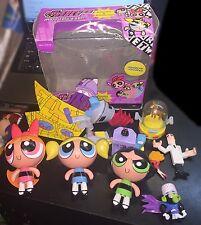 Powerpuff Girls Mojo Jojo's Lair Bubbles Buttercup Blossom More Lot Doll Figures