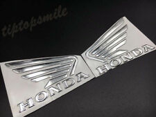 Chrome Wing Fuel Tank Decals For Honda Gel Emblem Stickers Custom Motorcycle