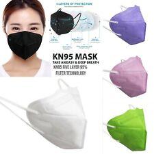 Lot 5 Color Kn95 Protective 5 Layer Face Mask Disposable Respirator Usa Seller