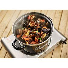 Mediterranean Medium Mussels Pot Black Pan 18 cm Tray Cook Clams Tray Oven Brew