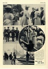 Von der Kieler Woche Frau v. Esmarch Prinz u. Prinzessin Eitel- Friedrich...1907