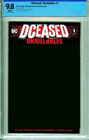 DCeased: Unkillables #1 Unknown Comics Blank Variant - CBCS 9.8!