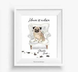 Custom Personalised Dog Portrait, dog Print, birthday Gift, Pet Animal Picture