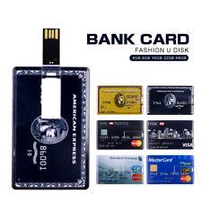 64GB Credit Card USB 2.0 Flash Drive Flash Memory Stick Pen Drive 1MB U Disk Lot
