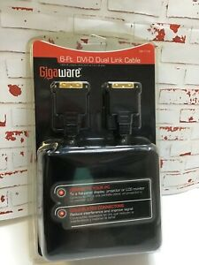 6' Dual Link Cable by GIGAWARE brand new, gold plated connectors
