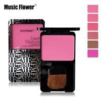 Music Flower Face Sleek Cheeks Powder Blush Palette Matte Blusher With Brush