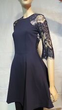 BB Dakota Dark Blue Mini Dress with Lace details US Junior Size: XS NWT