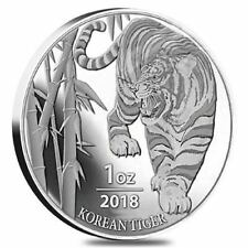 2018 Silver Tiger South Korea 1 oz Pure BU Coin Round in Airtite PRE-SALE