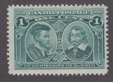 Canada 1908 #97i Quebec Tercentenary Issue 1 cent - F MNH