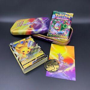 Mystery Mini Tin Box mit 50 Pokemon Karten + 1x OVP Booster, V Karte Garantiert!