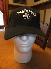 Jack Daniel's Sour Mash Bourbon Whiskey Hat Cap Black Cotton Trucker Adjustable
