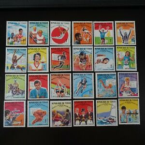 TCHAD N°183/206 JEUX OLYMPIQUES MEXICO 1968 NEUF * MH