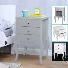 1/2/3 Drawer Bedside Table Chest Nightstand Storage Cabinet Camille Furniture UK