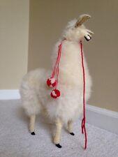 "Handmade Authentic Peruvian Llama Doll w real Alpaca Fur 12"" Tall"