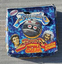 Vintage Alma Terrahawks Zeroid Bubble Gum candy stickers Display Box Terra Hawks