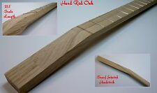 "Cigar Box Guitar Neck, **FREE** brass nut, 25.5"" Gibson scale, Red Oak, 22 Fret"