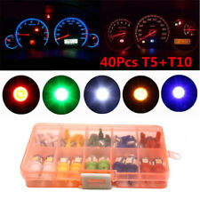 40Pcs T5 T10 LED 5050 SMD Car Instrument Panel Dashboard Light Bulb Guage Lamps