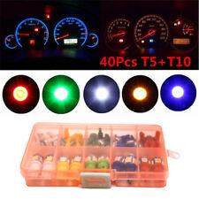 40Pcs T5 T10 LED 5050 SMD Car Instrument Panel Dashboard Light Bulb Guage Lamps
