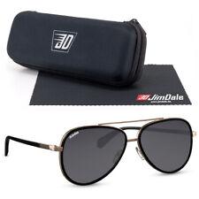 Jim Dale Herren Sonnenbrille Oval Pilot UV400 Markenbrille Metall Gold Schwarz