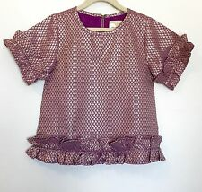 Peek Lilac And Gold Ruffle Top. NWT Age M (6-7) Price $26 (Retail $48)
