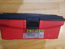 "Keter 13"" Black & Red Tool Box / Durable Hard Plastic"