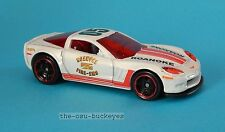 2012 Hot Wheels Loose '11 Corvette Grand Sport Coupe White Roanoke Fire EMS