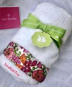 Vera Bradley Plush Baby Blanket LILLI BELL 🌸 Soft Security Satin Floral NWT HTF