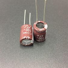 20pcs NCC KMG  100V47uF Aluminum Electrolytic Capacitor 47uF 100V 10x13mm
